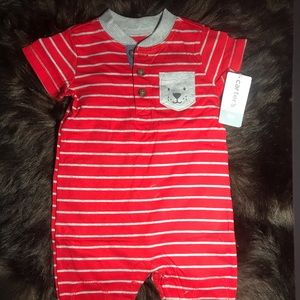 NWT Carter's Baby 1-Piece Red 6 Months